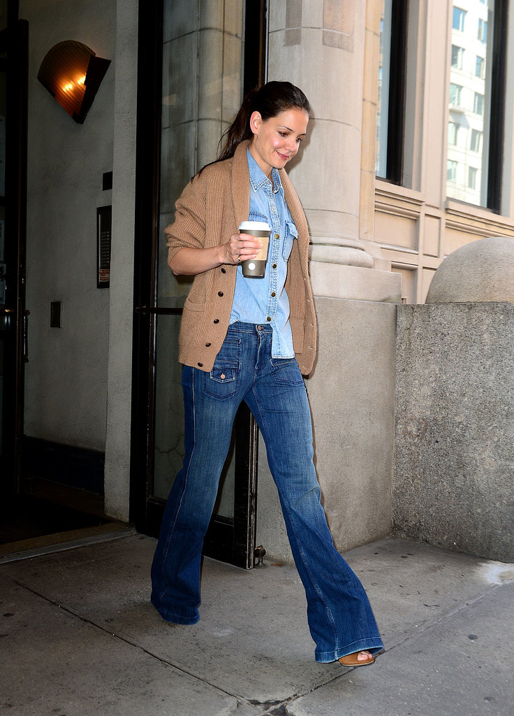 Double denim for an NYC outing in March 2012.