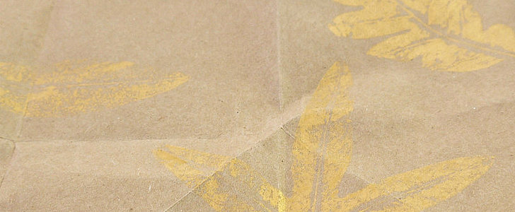 Go For the Gold: Gilded Paper Bag Gift Wrap