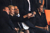 President Barack Obama grabbed headlines when a photo emerged of him taking a selfie with the Danish and English prime ministers, overshadowing his inspiring speech during the memorial for Nelson Mandela in Johannesburg, South Africa.