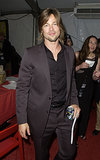 Brad Pitt showed off his perfectly coiffed locks at the Emmys in September 2002.