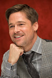 Brad Pitt looked adorable during a December 2008 press conference for The Curious Case of Benjamin Button in LA.