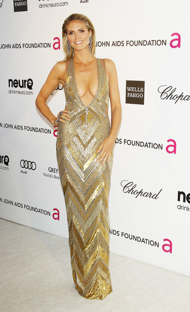 Heidi Klum at Elton John's Academy Awards Party