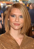 """Claire rocked a """"lob"""" in 2003 . . . long before any of today's starlets had adopted the trend."""