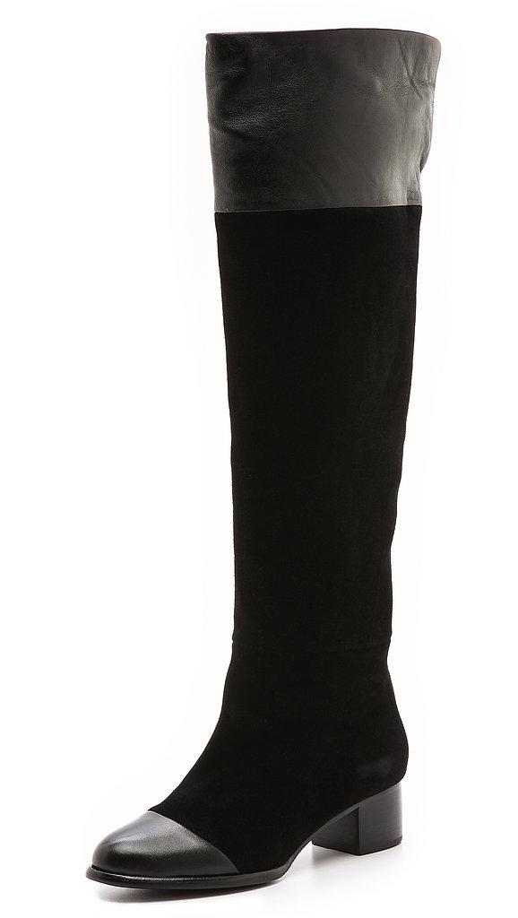 Joie Sabra Suede Combo Boots ($347, originally $495)