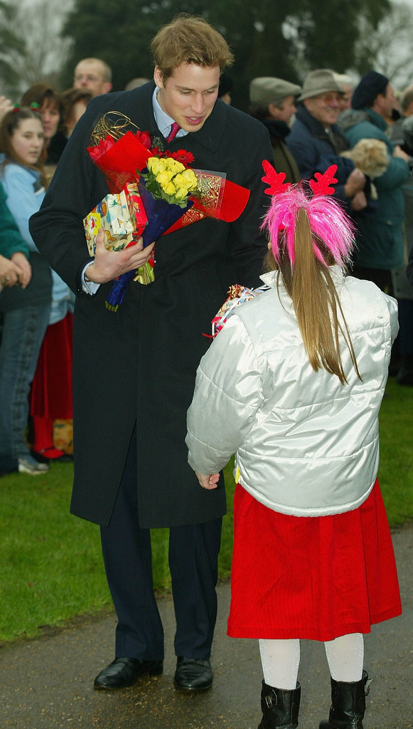 Prince William chatted with a little girl in 2002.