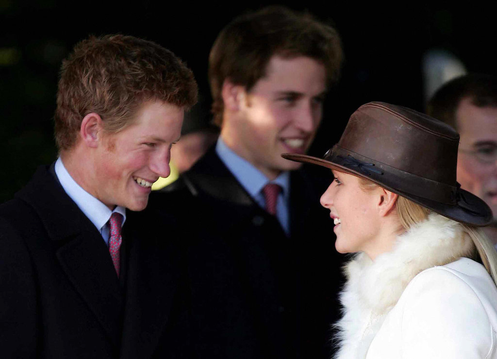 Prince William and Prince Harry laughed with their cousin Zara in 2004.