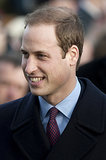 Prince William made a dapper Christmas Day appearance in 2011.