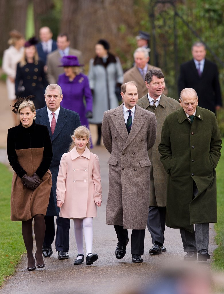 The royal family walked into the Christmas Day church service together in 2012.