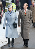Prince Edward and Princess Anne, Princess Royal, arrived for the Christmas Day service in 2009.