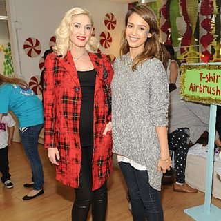 Gwen Stefani and Jessica Alba at Baby2Baby Event 2013