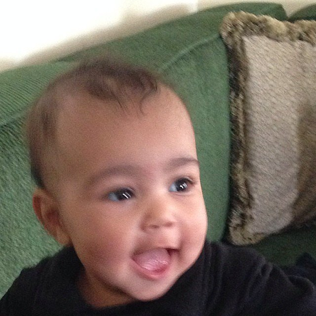 Kim captured North's big smile in November 2013.  Source: Instagram user kimkardashian