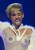 Miley's tongue came out to play during the iHeartRadio Music Festival in September.