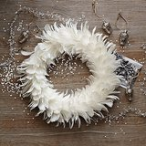 The perfect accessory to feather your nest, this Feather Wreath ($11, originally $19) can be left up well beyond the holidays.
