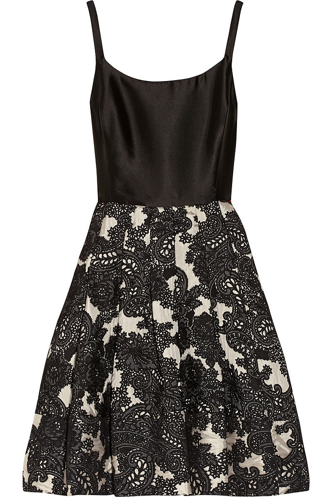 Silk-twill and wool-blend jacquard dress ($995)