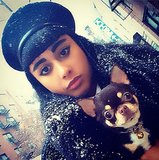 A snowstorm didn't stop Natalia Kills from looking her bold-browed best. Source: Instagram user iamnataliakills