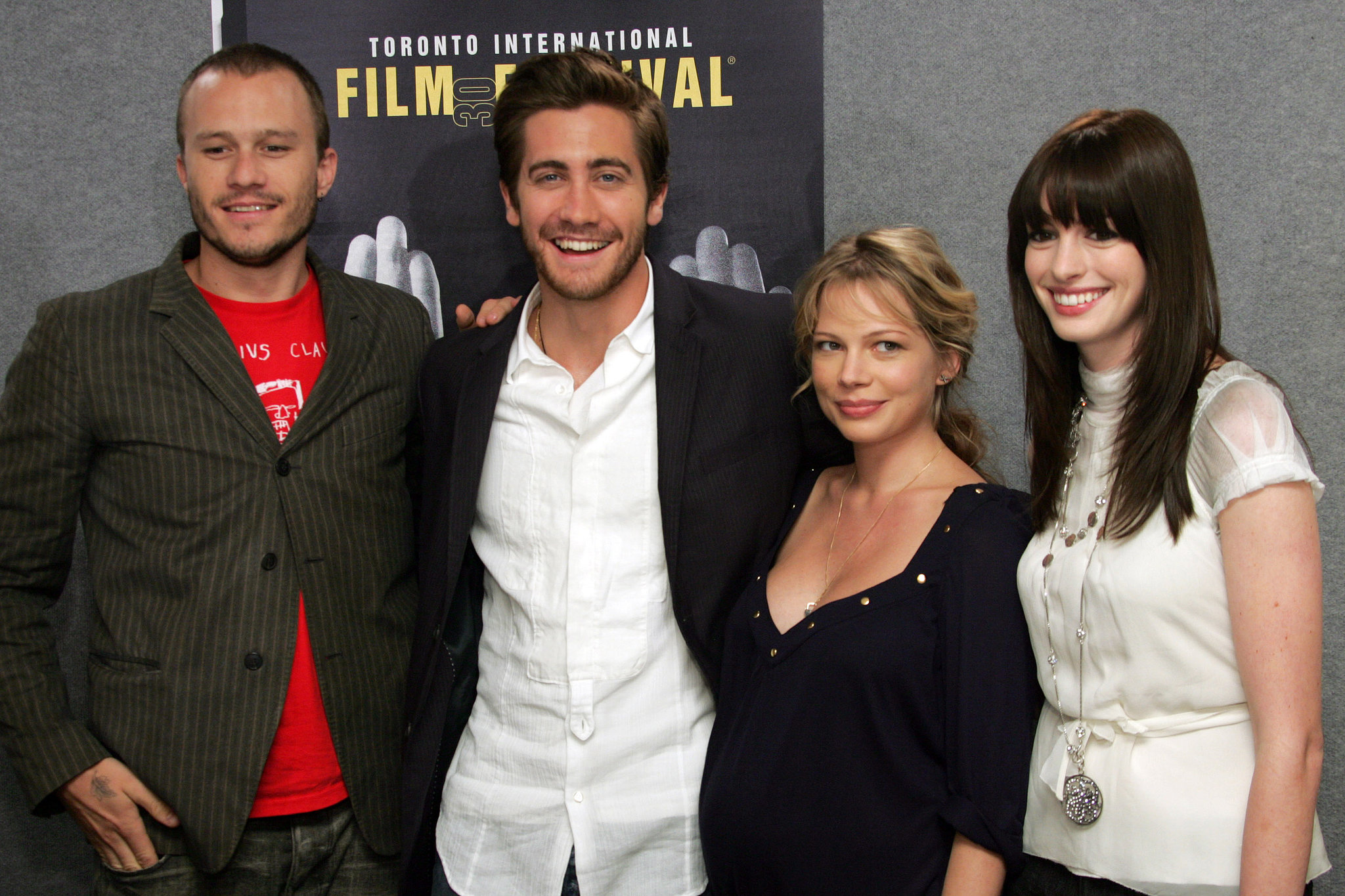 Jake joined his Brokeback Mountain costars — Heath Ledger, Michelle Williams, and Anne Hathaway — for the film's premiere at the 2005 Toronto Film Festival.