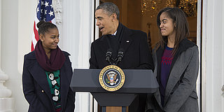 Sasha And Malia Obama Poke Fun At Their Dad's Clothing Choices