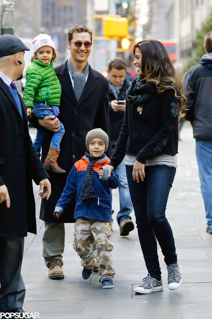 Matthew McConaughey and His Too-Cute Family Take On NYC