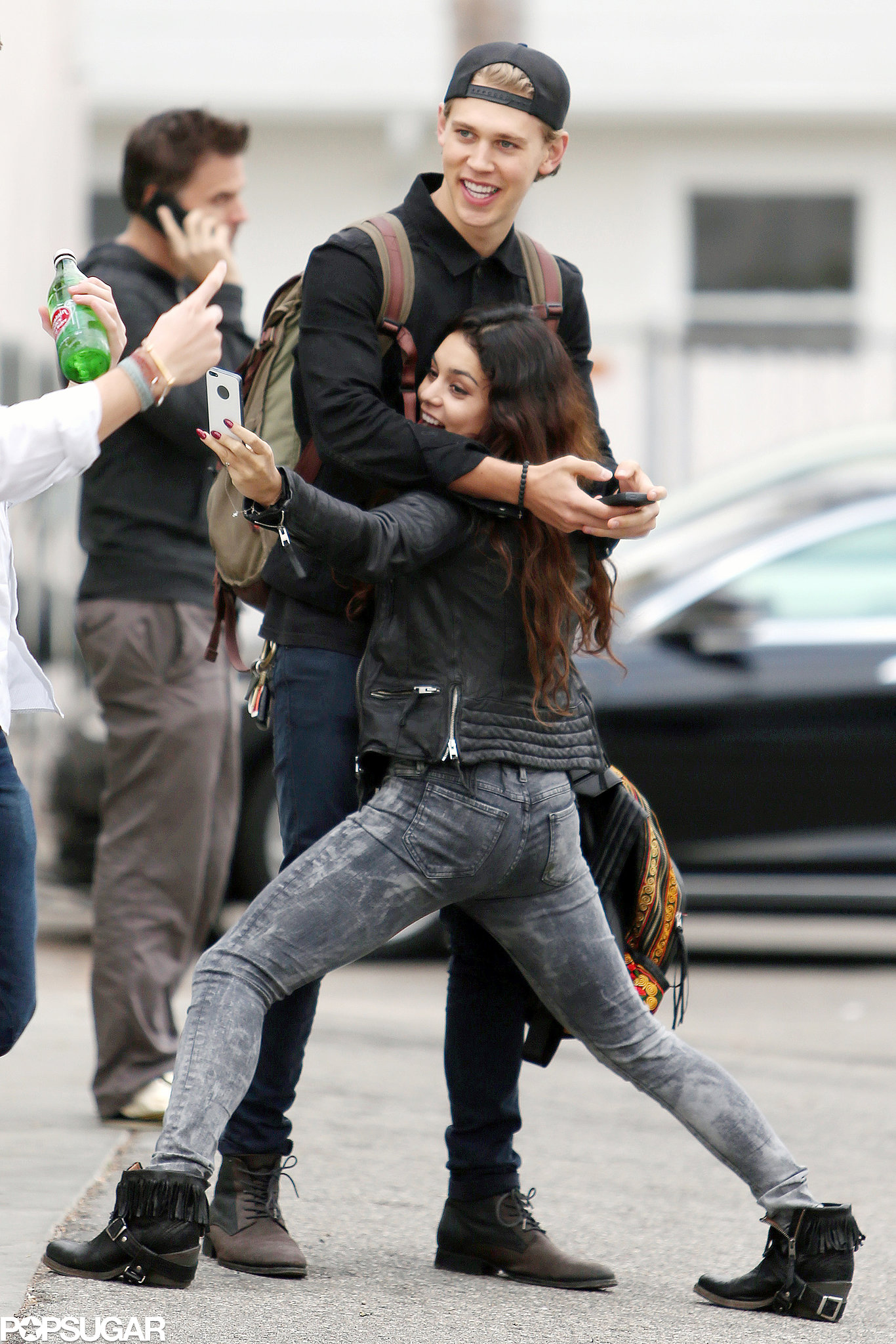 In December 2013, Vanessa Hudgens got silly while taking a selfie with boyfr