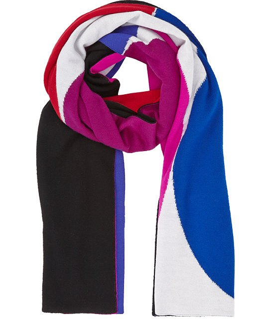 With as much money as I've been spending on holiday gifts, all of my personal purchases have to have some kind of added value. I like the idea of something with as much function as this Lisa Perry Oblong Scarf ($695) because it's big enough to work as a blanket in a pinch. — JF