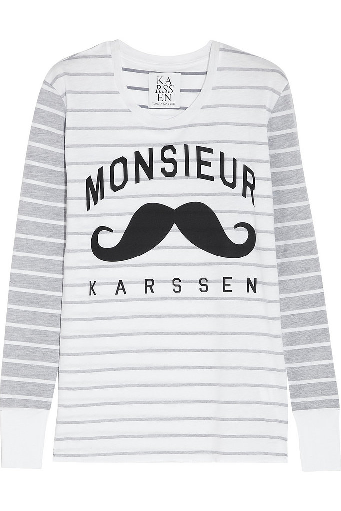 After a week month filled with delicious holiday treats and a cocktail or two, I'm relying on this Zoe Karssen tee ($100) to keep me stylish and comfortable in the New Year. — MV