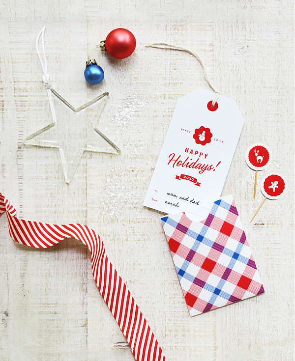 Holiday Greeting Tag and Pocket