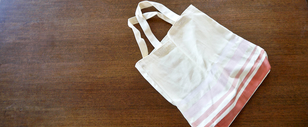 DIY Ombré Painted Canvas Tote Bag