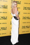 Armani Privé's Winter white column unwrapped to unveil a hint of glimmer when Margot Robbie hit the label's premiere for The Wolf of Wall Street.