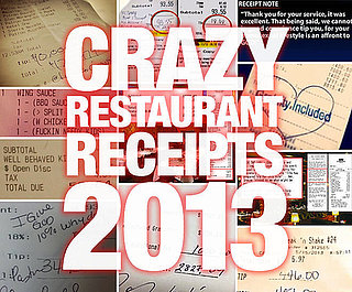 2013: The Year in Crazy Restaurant Receipts