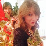 """""""Merry Swiftmas and Hailee New Year,"""" Taylor Swift captioned this pic. Perfectly punny! Source: Instagram user taylorswift"""