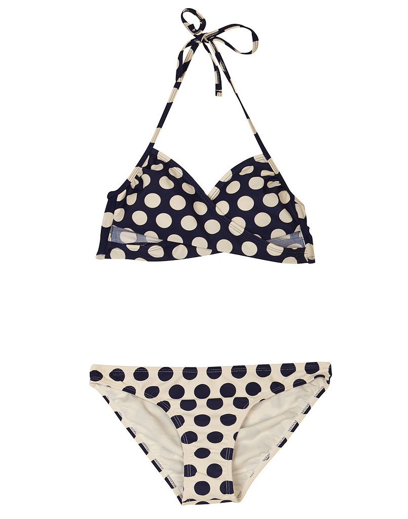 Polka Dot Wraparound Bikini ($17) and Sweet Dots Bikini Bottom ($11)