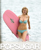 Brooklyn Decker put her bikini body on display for a photo shoot in Miami on Monday.