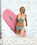 Brooklyn Decker put her bikini body on display for a photo shoot in Miami on Monday.