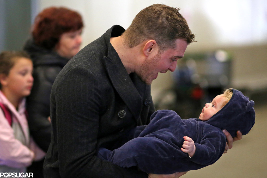 First Pictures of Michael Bublé Out With His Adorable Baby!