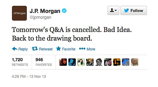 The Epic Fail of J.P. Morgan's Twitter Chat Experiment