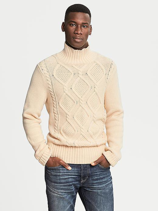 Banana Republic Heritage Cable-Knit Turtleneck ($130)