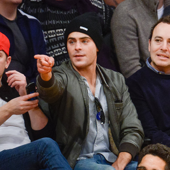 Zac Efron at a Lakers Game
