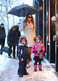 Mariah Carey posed with Moroccan and Monroe during their shopping trip.