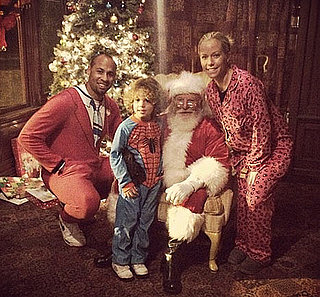 Pregnant Kendra Wilkinson Shares Family Christmas Card With Santa Claus: Picture