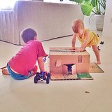 Gisele Bündchen showed off her son Benjamin's home for his toy cars.  Source: Instagram user giseleofficial
