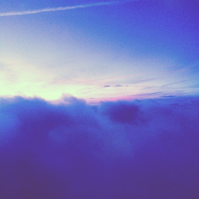 Ellie Goulding took this photo of her view from an airplane.  Source: Instagram user elliegoulding