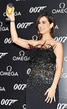 Bond girl Bérénice Marlohe toasted to her role in Skyfall during a party in Japan in November 2012.