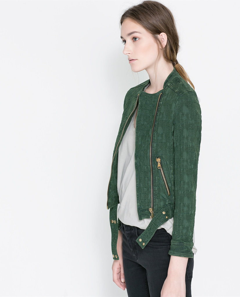 Zara Jacquard Jacket With Zips ($90, originally $119)