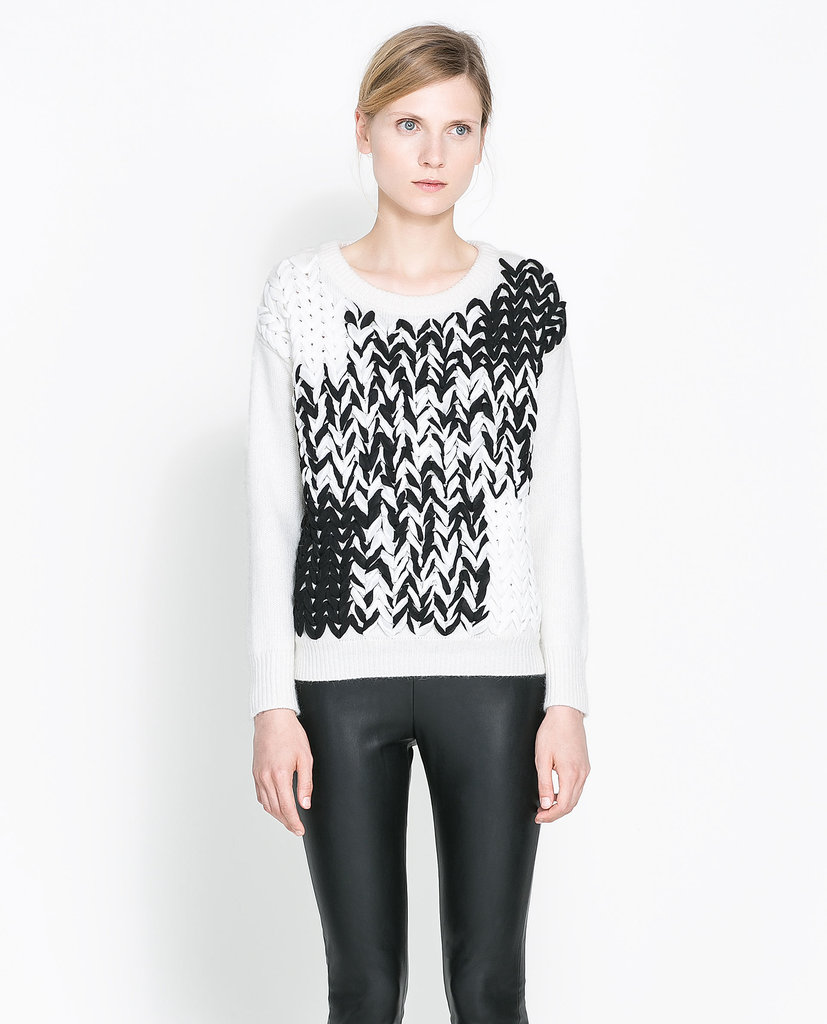 Zara Woven Sweater ($60, originally $100)
