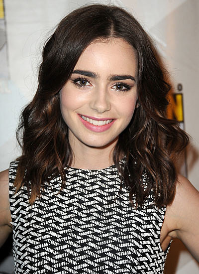 4. Lily Collins: Long to Lob
