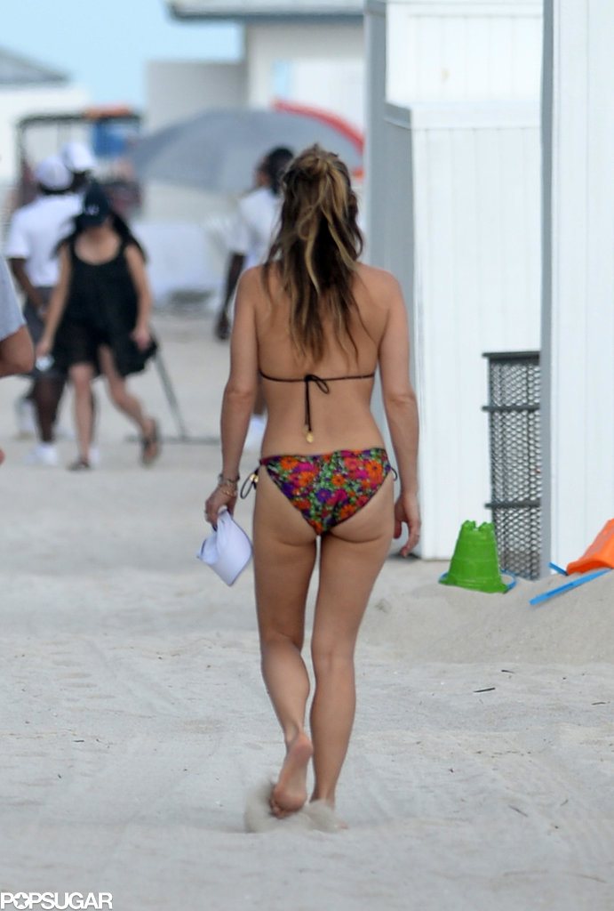 Molly Sims showed off her bikini body in Miami.