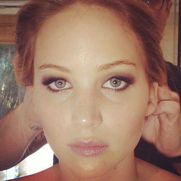 Jennifer Lawrence was on a red carpet whirlwind earlier this year, and this shot from makeup artist Jillian Dempsey gave us a close-up view of Jennifer's smoky eye before her epic Oscars win.  Source: Instagram user jilliandempsey