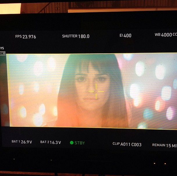Glee star Lea Michele has recorded many hits for the show's soundtracks, but this year she gave a behind-the-scenes look at the shoot for her debut solo album, Louder. Source: Instagram user msleamichele