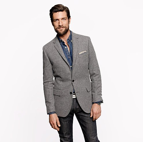 J.Crew Ludlow Elbow-Patch Sportcoat in Colburn English Tweed ($278, originally $348)