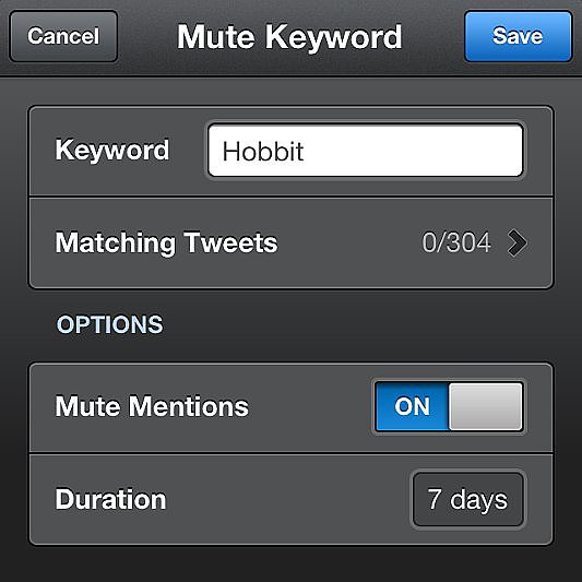 Avoid spoilers; mute conversations on Twitter